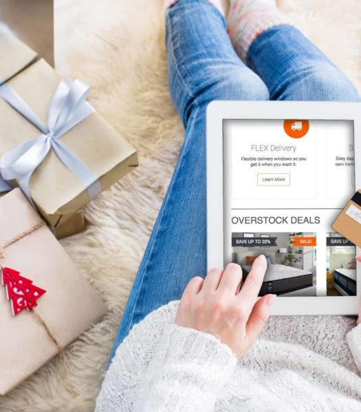 holiday shopping with mattress overstock